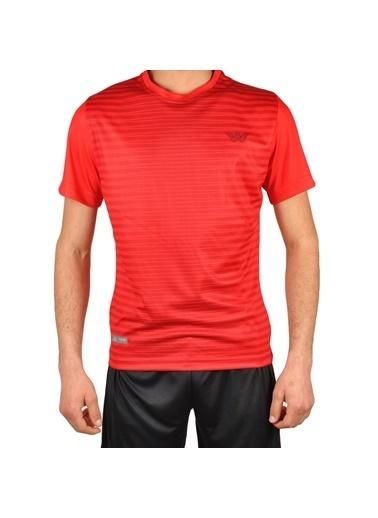 Walkway Line Tişört Füme-Gri Erkek Tişört Kırmızı